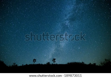 Milky Way Galaxy, Night Sky with Amazing Stars.Photo taken on: September 20th, 2013 from china mountain