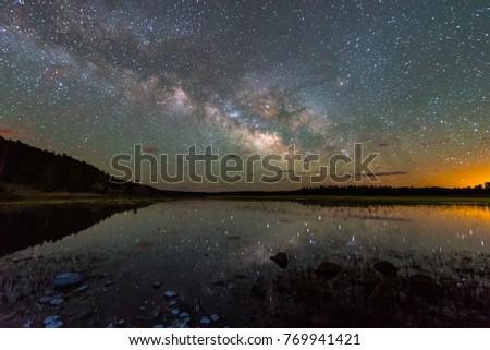 Milky Way Galaxy over Sedona, Northern Arizona #769941421