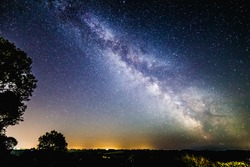 Milky Way Galaxy over southern Somerset in the UK