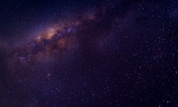 Milky way galaxy with star and space dust in the universe and deep planet night sky background, with copy space.