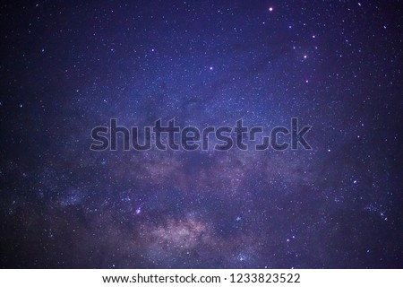 Milky way galaxy with stars and space dust in the universe #1233823522