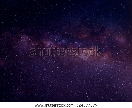 Milky way galaxy with stars and space dust in the universe #324597599