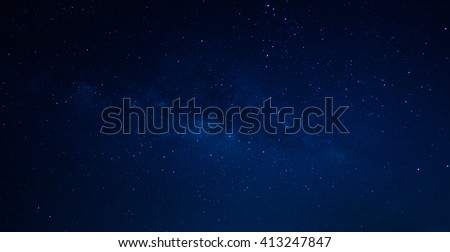 Milky way galaxy with stars and space dust in the universe,Thailand - Shutterstock ID 413247847