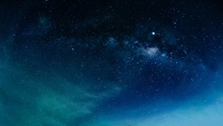 Milky way galaxy with stars and space in the universe background at thailand