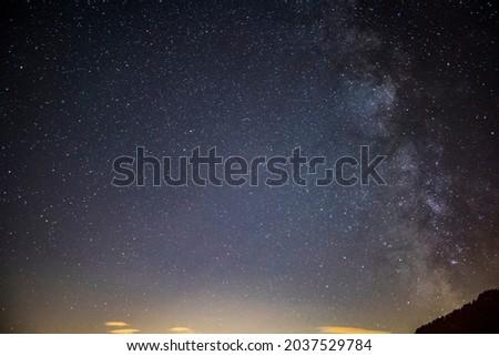 Milky way in Dolomites, Alps, Italy. Europe Foto stock ©