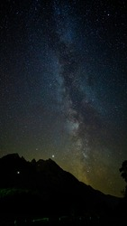 Milky Way in Salzburg Hintersee