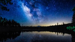 Milky way in the night sky