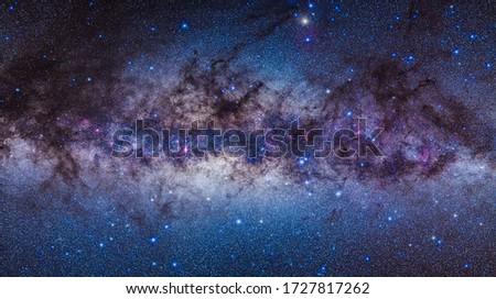Milky way in the night sky Photo stock ©
