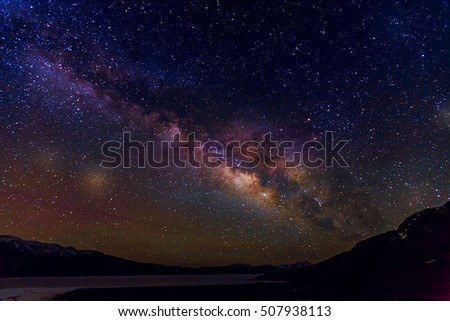 Milky Way, Milky Way night sky with stars, Milky Way Background #507938113