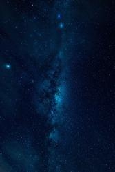 Milky way on a night sky, Long exposure photograph, at Australia
