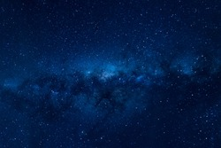 Milky way on a night sky, Long exposure photograph, at Melbourne, Australia