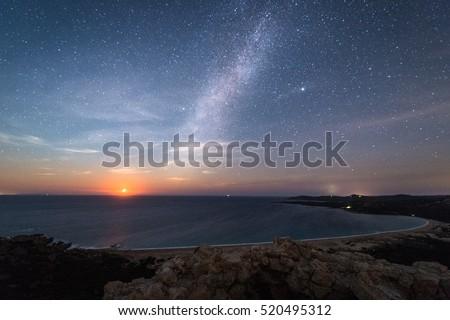 Milky Way on the beach #520495312