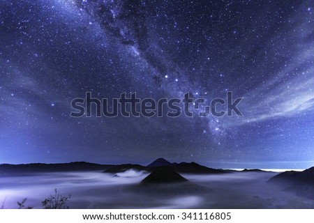 milky way over Bromo National Park, Java - Indonesia