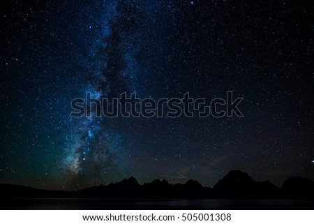 Milky Way Over Tetons