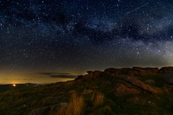 Milky Way over the Brecon Beacons national park in May 2019