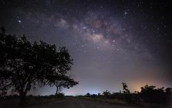 Milky way over the farm.