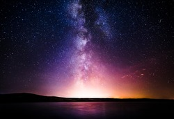 Milky Way over the sea