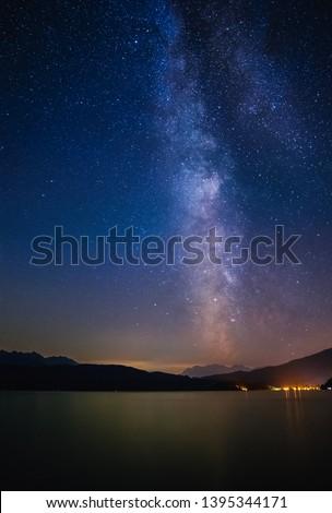 Milky way raising above the Walchensee #1395344171