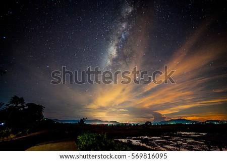Milky Way shot from Kg Sangkir, Kota Belud, Sabah, Malaysia #569816095