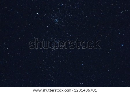 Milky Way stars photographed with astronomical telescope. My astronomy work. #1231436701