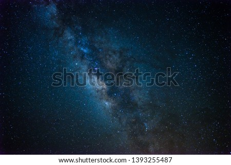 Milkyway and stars on Morocco Desert