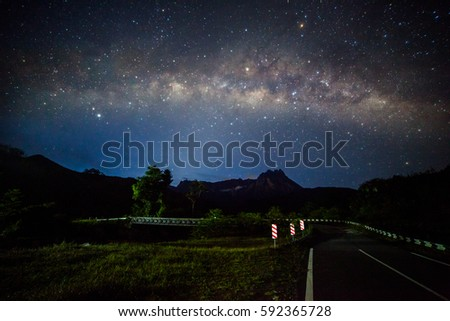 Milkyway rise from Sabah, Borneo #592365728