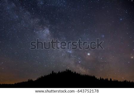 Milkyway stars landscape - Shutterstock ID 643752178