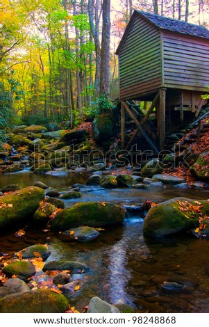mill and autumn colors in tennessee