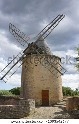 Mill in Goult, Provence, France #1093542677