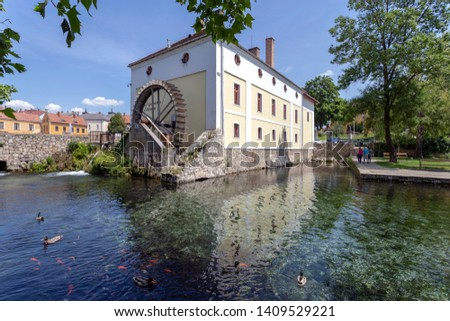 Mill Pond in Tapolca, Hungary. Stock fotó ©