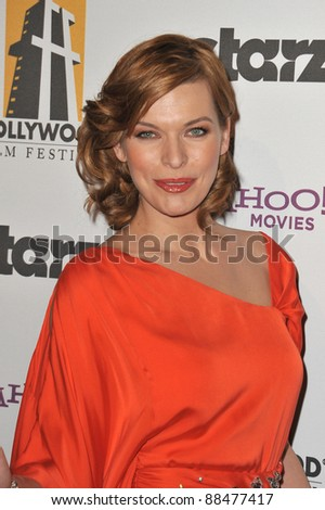 Milla Jovovich at the 14th Annual Hollywood Awards Gala at the Beverly Hilton Hotel. October 25, 2010  Beverly Hills, CA Picture: Paul Smith / Featureflash