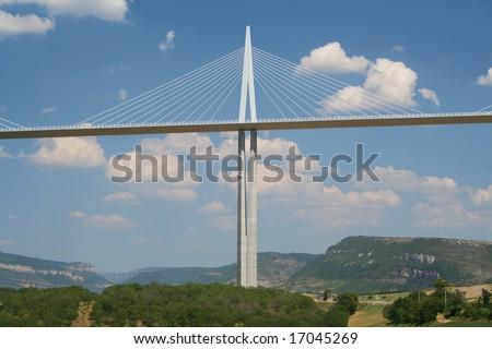 Millau Bridge, France - stock photo
