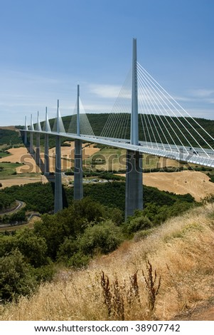 Millau Bridge Viaduct Summer France