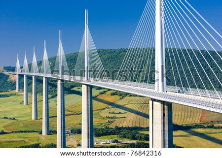 Millau Viaduct, Aveyron D?partement, France
