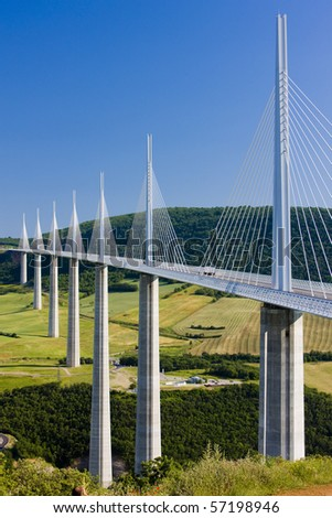 Millau Viaduct, Aveyron Department, France