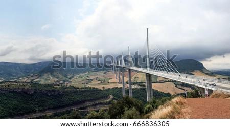 Millau Viaduct France  Photo stock ©