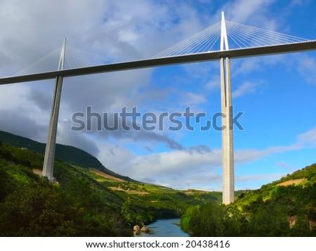 Millau viaduct over Tarn river