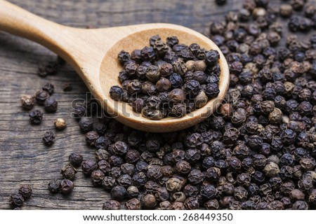 Shutterstock milled black pepper ,Black pepper corns and Black pepper Powder
