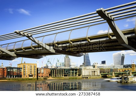 Millenium Bridge in London, England #273387458