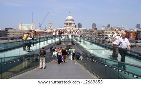 Millennium bridge, river crossing london.