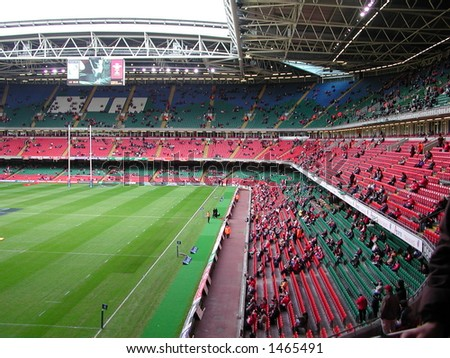 millennium Stadium starting to fill up prior to Wales v Italy