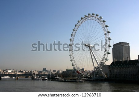 Millennium Wheel or London Eye - famous tourist attraction of England.