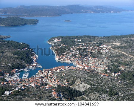 Milna at island Korcula, Adriatic sea, Croatia