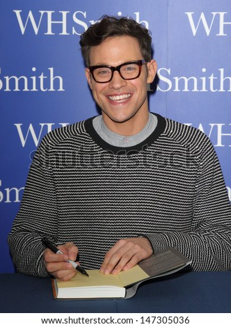 Milton Keynes .  Will Young attends a book signing for his book  Funny Peculiar  at WH Smith, Milton Keynes, Bucks, UK. 2nd November 2012