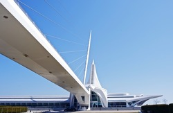 Milwaukee Art Museum (MAM) Modern Building. Museum is Located in Milwaukee, Wisconsin, USA. American Architecture Photo Collection.