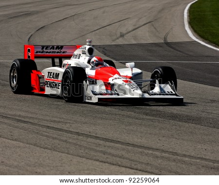 MILWAUKEE, WI - MAY 29: INDYCAR IRL driver Helio Castroneves returns to Team Penske May 29, 2009 in Milwaukee, WI. Helio won the Indy 500 for the third time the week before.