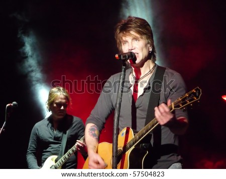 MILWAUKEE, WI - MAY 15: John Rzeznik performs with the Goo Goo Dolls at the Pabst Theater in Milwaukee, WI on May 15, 2010 as part of the Something for the Rest of Us World Tour.