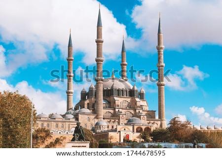 Mimar Sinan'ın ustalık eseri Edirne Selimiye Camii Stok fotoğraf ©
