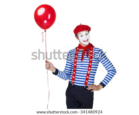 mime with balloon.emotional...