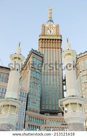 Minarets in Makkah holy mosque
